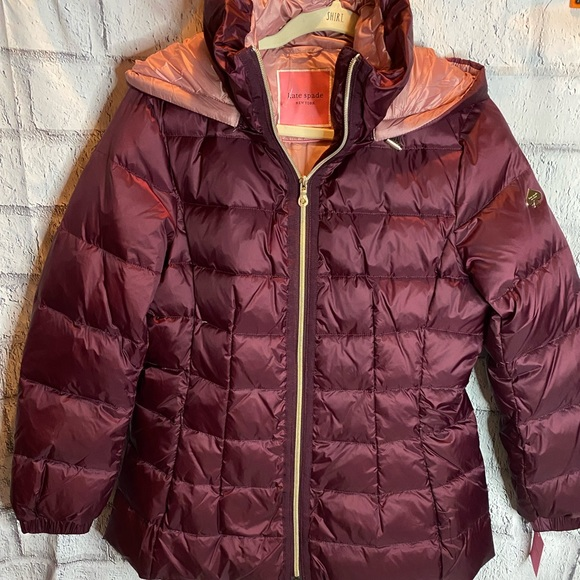 NEW! Kate Spade Mulberry Down Jacket W/ Hood. NWT